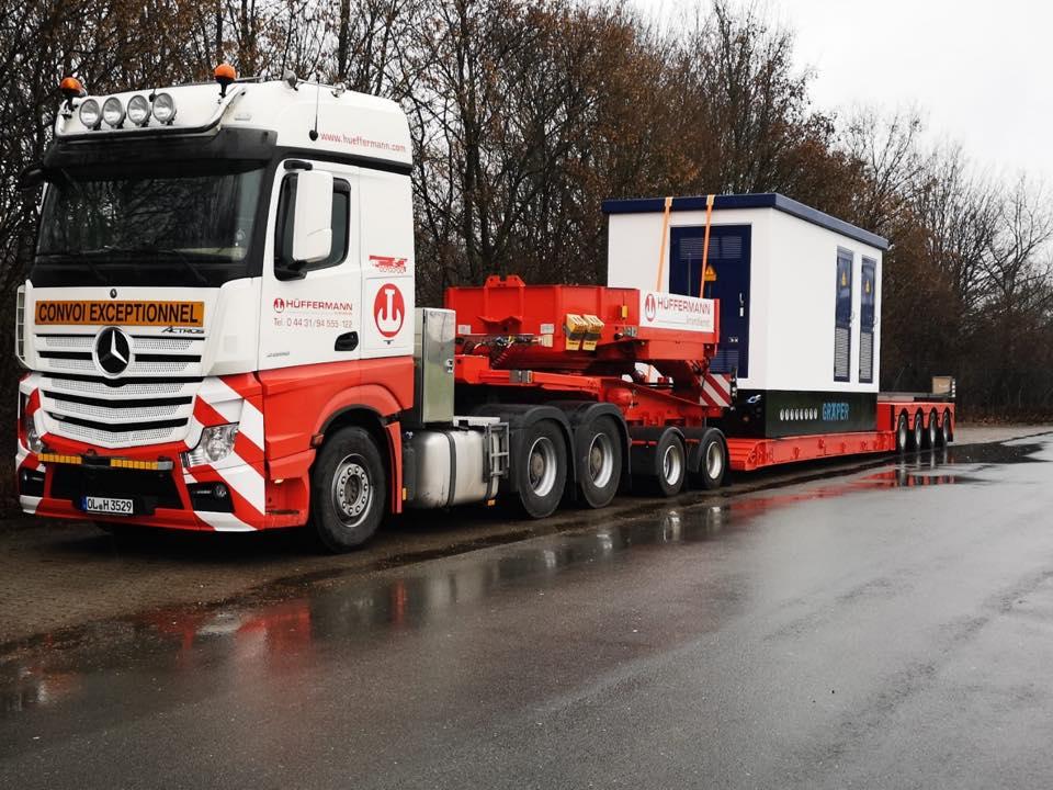 Schwerlasttransport - Transporte - Transport Maschinen - Überführung - Hüffermann